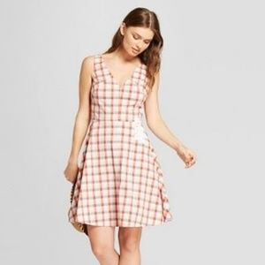 A New Day Gingham Sleeveless Embroidered Dress